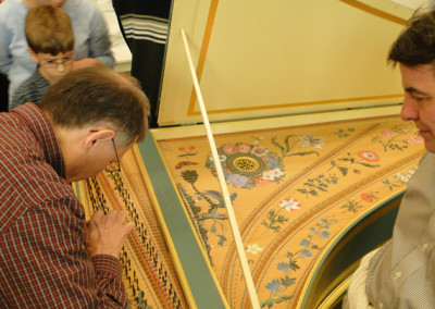 Red Priest Concert Intermission - Gerald self tuning the harpsichord