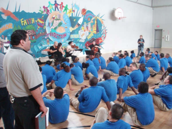Enso Quartet at Cindi Kroer Correctional Facility Oct07